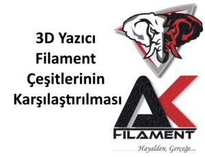 3D Yazıcı Filament Çeşitlerinin Karşılaştırılması