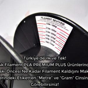 Gri PLA Premium Plus Filament